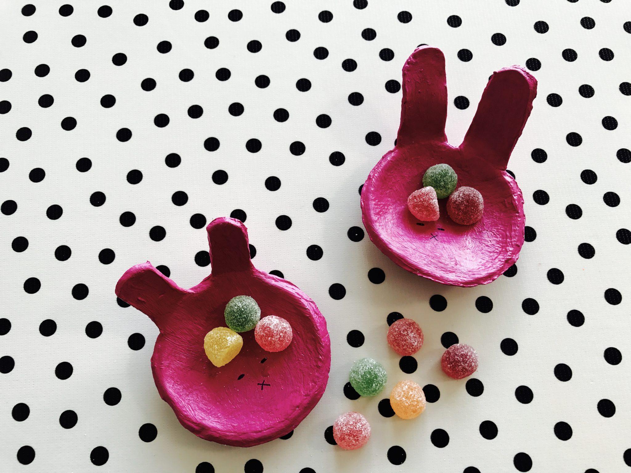 DIY konijnen kommetjes uit klei